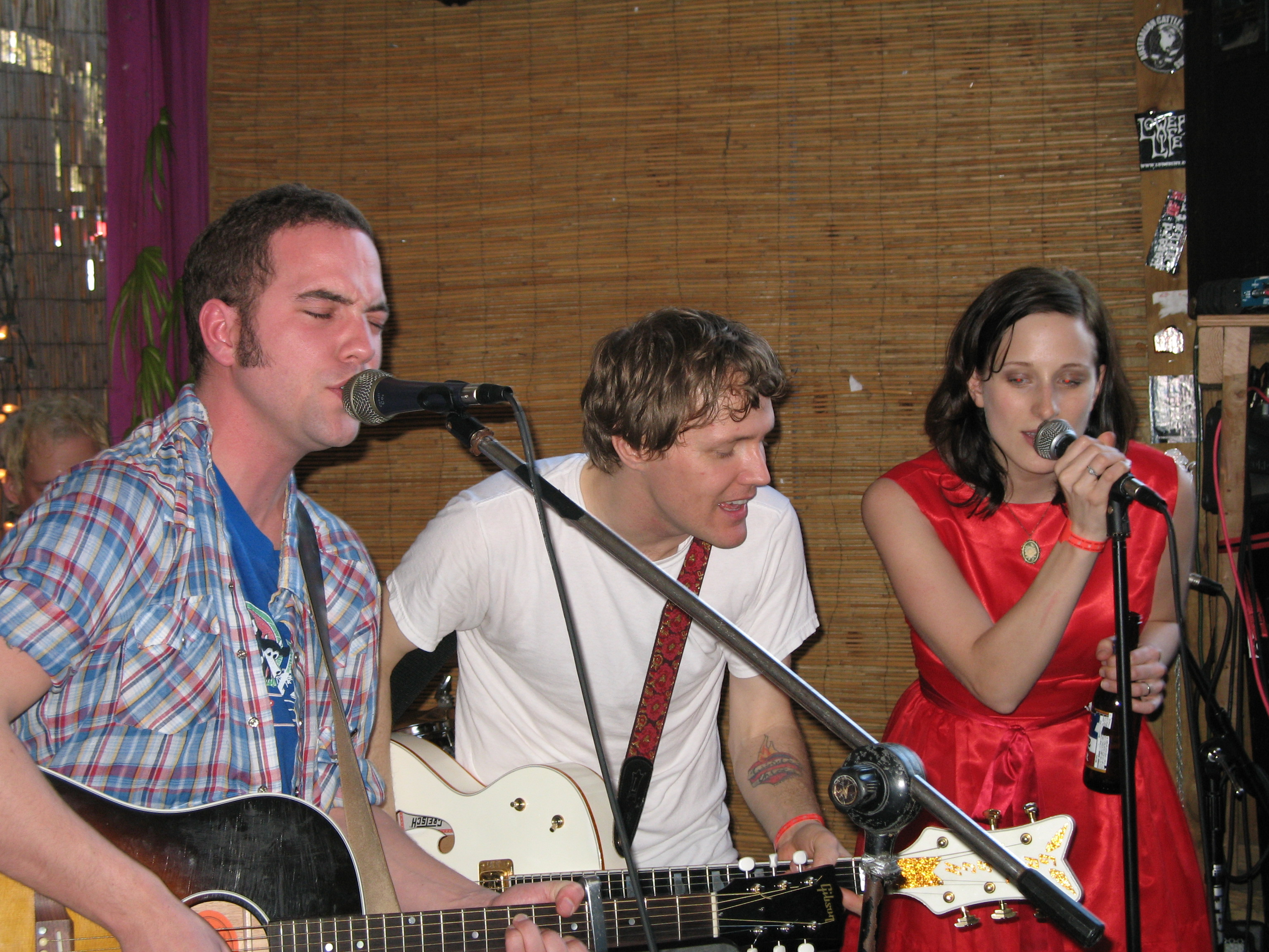 The Six Shooter supergroup: Justin, Luke and Melissa