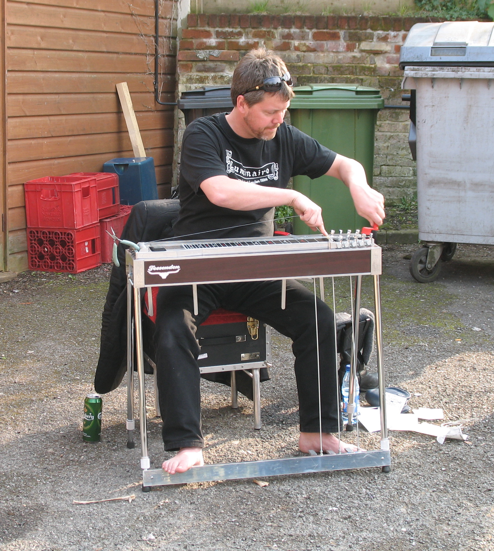 Life can be tough for a pedal steel player